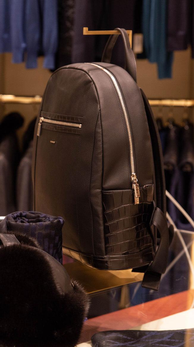 Detailaufnahme eines Rucksack von Zilli